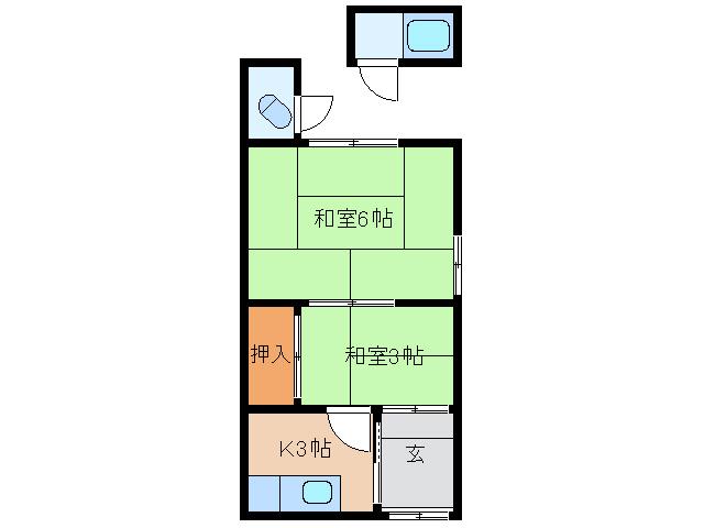 中原住宅 1階